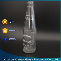 220ml glass soda juice bottle for beverage with crown cap pull ring cap