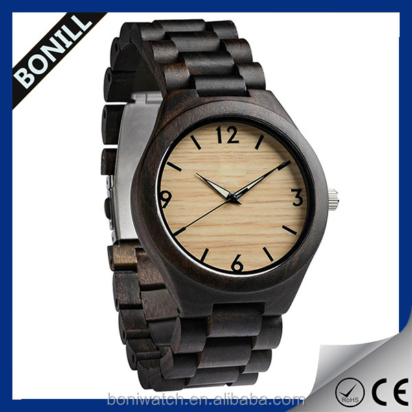 2016 Vintage wood and bamboo customized personalized wrist watch