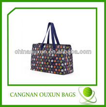 new arrival laminated pp woven large shopping bag with zipper