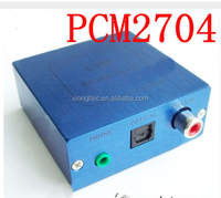 PCM2704 USB DAC USB Power fiber optic coaxial analog output USB sound card decoding plate With shell