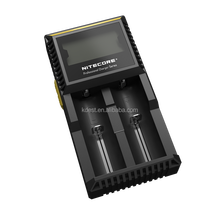 Top Selling Nitecore LCD Charger Intelligent D2 Charger Nitecore 18650 Battery Charger