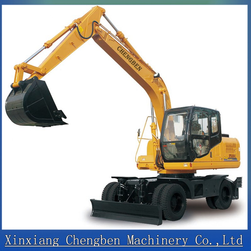 Wheel excavator CE certificate construction machinery mini digger in dubai