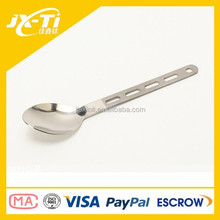 lightweight straight shank titanium spoon , optimus hallow out camping cutlery kit