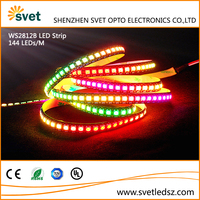Christmas Decoration WS2812B 144Pixels/m Addressable LED Strip Lights 5050 12mm Waterproof IP65