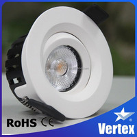 360 directions Titl, warm white IP44 led recessed ceiling light CRI 97