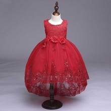 Wholesale girl party dress baby kids child wear model 10 year old girlLL8804