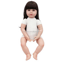 "China Factory Price Alive Handmade Lifelike 22"" 56cm Soft Silicone Naked Girls Reborn Baby Doll for Sale"
