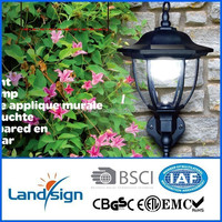 Free sample!!!! wall mounted solar garden light type cheap plastic solar wall light series decorative led solar wall light
