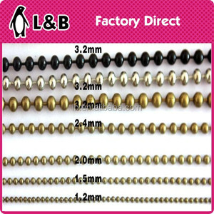 plating color stainless steel Ball chain on roll for decoration