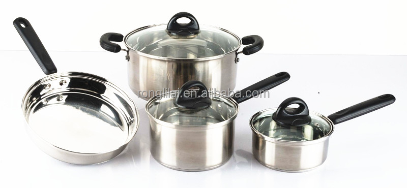 7pc non-stick cookware set wholesale for induction