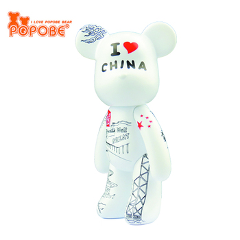 OEM Available PVC Plastic POPOBE Bear Home Decoration & Phone Stand Small Gifts