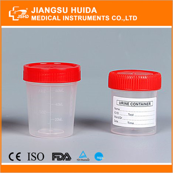 JSHD sterile 60ml urine cup with screw cap