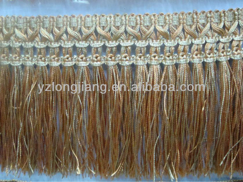 Mettalic golden tassel fringe for garment/curtain decoration