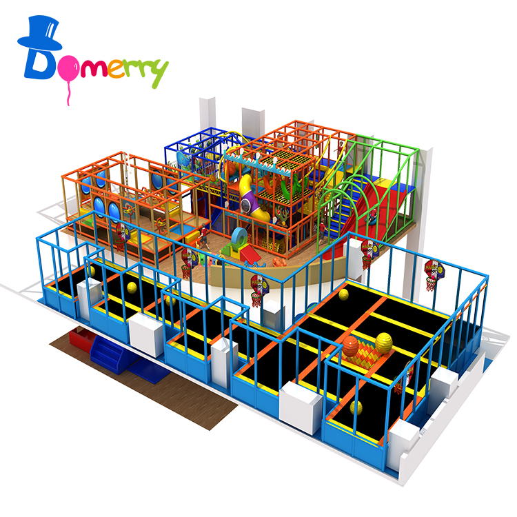 Special design kids play games indoor trampoline playground