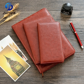 Promotional Items Wholesale Business Custom Printing Logo Leather Hardcover Notepad