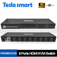 2017 New Version CCTV Auto EDID RS-232 control 4K 8 Ports HDMI USB KVM Switch