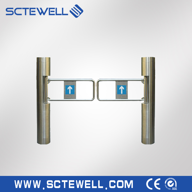 CE Approved 304 Stainless Steel Swing Gate Turnstile,Electronic Security Swing Barrier Gate for Supermarket