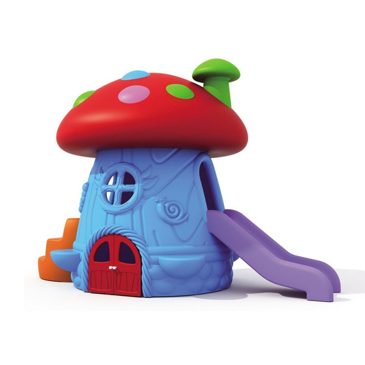 Exercise play toys mushroom house slide colorful outdoor playground equipment