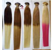 Alibaba china manufacturer wholesale cheap i tip/u tip/micro ring ombre hair extension for black women