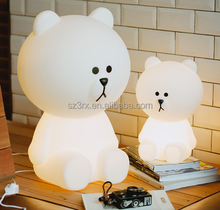 Cartoon lovely bear led flashing toys,Luminous led light gift,Light up LED toys manufacture