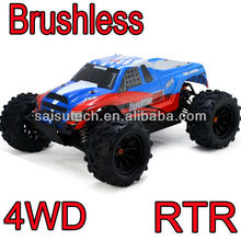brushless rc truck 4x4 rc car 1:10 brushless full time 4wd off road rc monster truck make remote control car toy