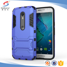 Shockproof Hybrid PC TPU Shell Holder Stand Case For Moto x style