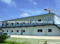 Living Type Steel Prefabricated Houses with Two Floors