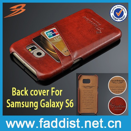 NEW case back cover for Samsung Galaxy S6 case with card holders