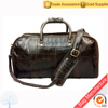 Factory direct sale Low MOQ 100% leather luggage and travel weekend bag