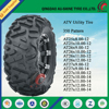 ATV parts 19x7-8 tires and 8x120 wheel hub