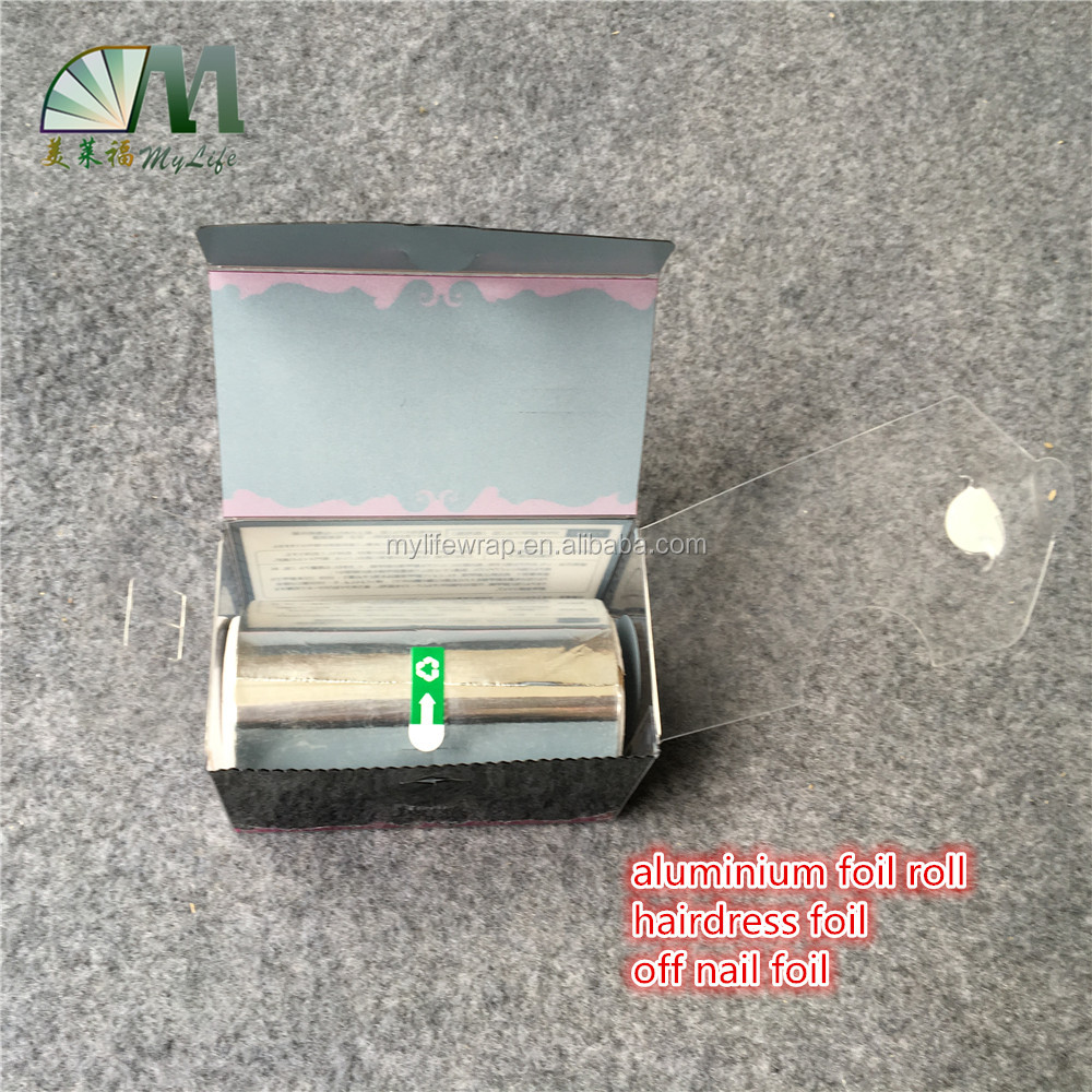 narrow width aluminium foil paper jumbo roll for hairdressing salon foil and off nail foil