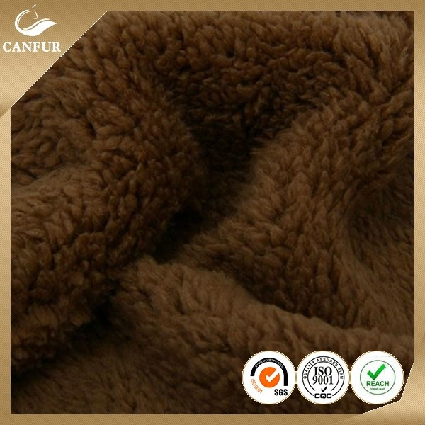 2015 Super soft polyester micro sherpa fleece fabric