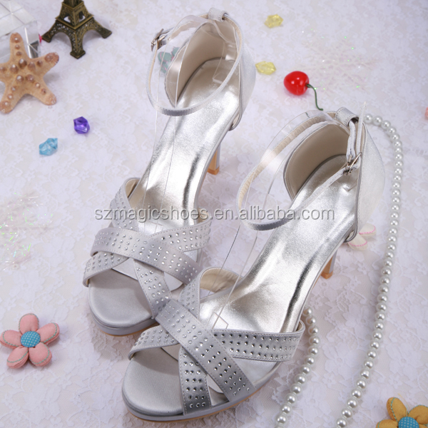 (20 Colors) Lady High Heel Bridal Fancy <strong>Sandals</strong>