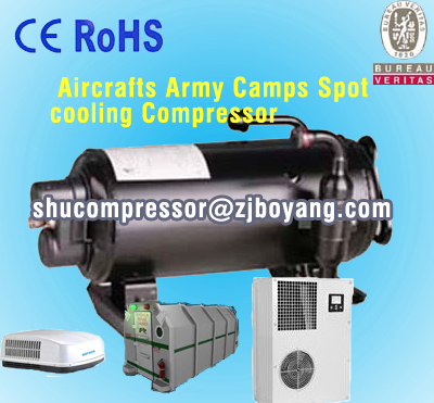Aircrafts Army Crans sysm cooling Compressor for motor home auto roof mounted air conditioner