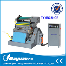 TYMB die cutting & Hot stamping machine for paper /card/card board/plastic CE Standard