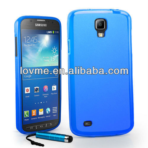 Grip Gel TPU Case Cover For Samsung Galaxy S4 Active i9295+ Film + Stylus