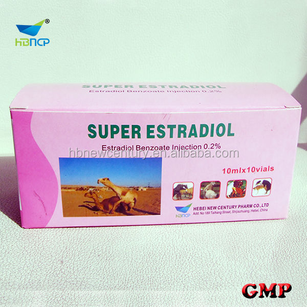 10ml 0.1% 0.2% estradiol benzoate injection for animal ues only