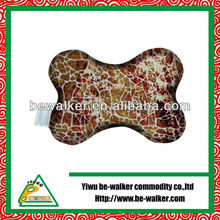 Full print micro beads bone shaped crochet neck pillow