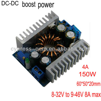 booster module vehicle notebook computer power supply DC 8-32V to DC 9-46V power 150W