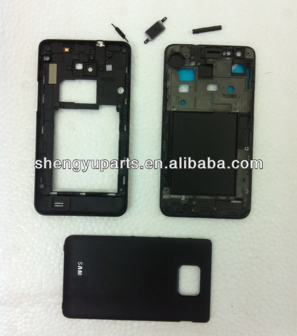 Wholesale Full Set Housing For Samsung Galaxy S2 SII I9100 Housing with Frame Back Cover+Home Button+Side button ACCEPT PAYPAL