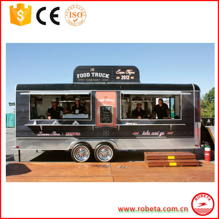 CE approved food trolley / fast food van / Mobile food carts for sale