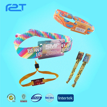 Custom rfid fabric festival wristband for events