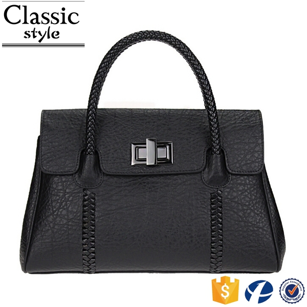 CR best selling products in europe new arrival women satchel with lock classical shoulder bag genuine leather black tote bag