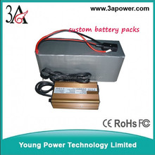 custom lifepo4 48v 100ah battery packs with bms and charger for car
