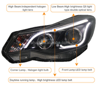 High quality and good performance LED car HID auto head lamp used for s ubaru-xv 2013-2015