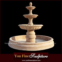 China 3 Tier Water Natural Stone Garden Fountains