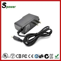 12W 12V 1A Wall Mount AC Adapter with different plug type