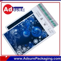 Plastic foil shipping bags for clothing/book packaging mailers/poly bag with bubbles