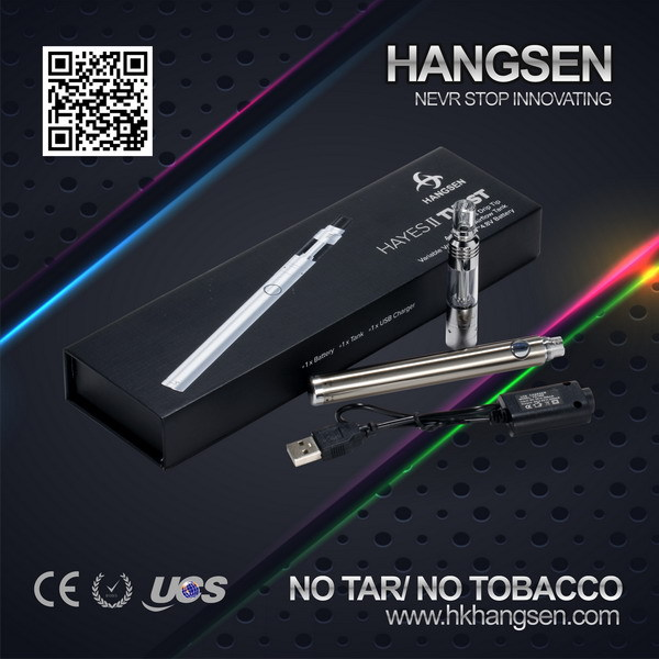 Hangsen HAYES II TWIST vaporizer pen with electronic cigarette single pack case, new products 2015