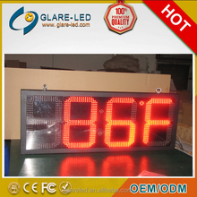 Big RGB LED screen led time and temp display advertising LED screen